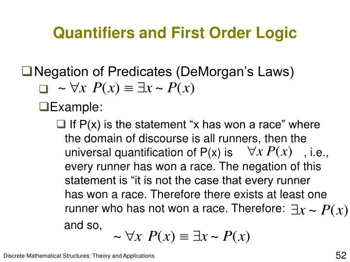 Quantifiers and First Order Logic