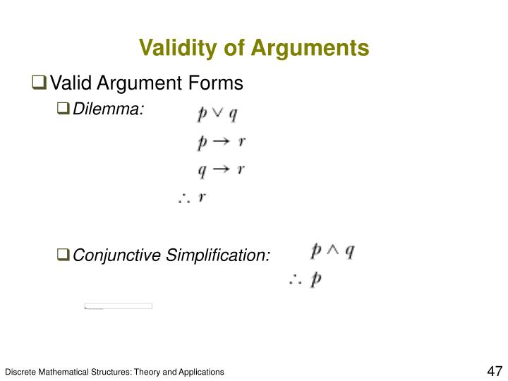 Validity of Arguments