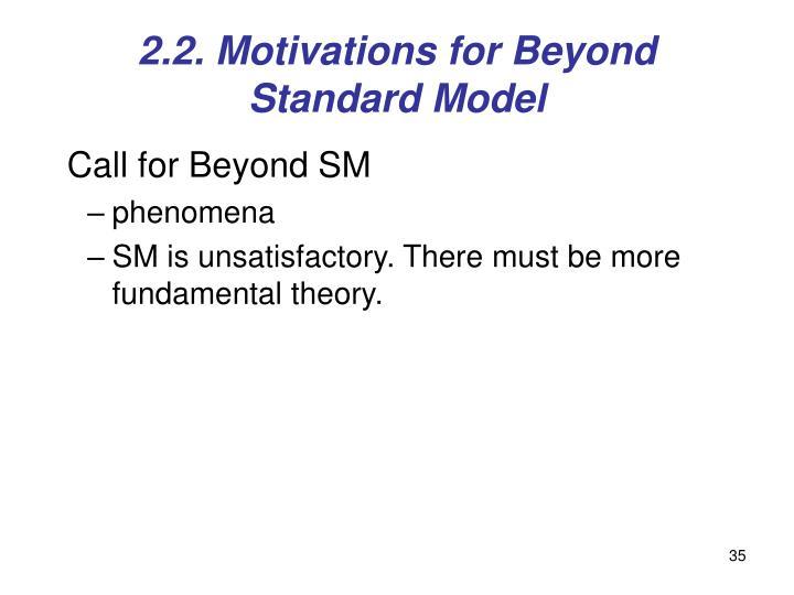 2.2. Motivations for Beyond Standard Model