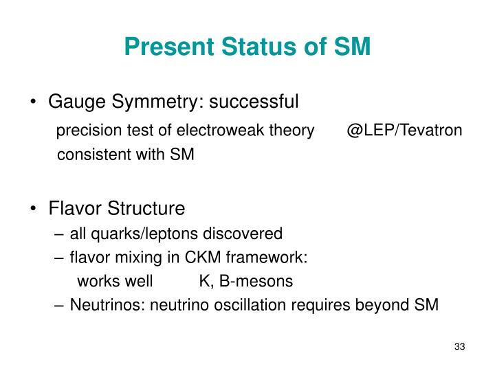Present Status of SM