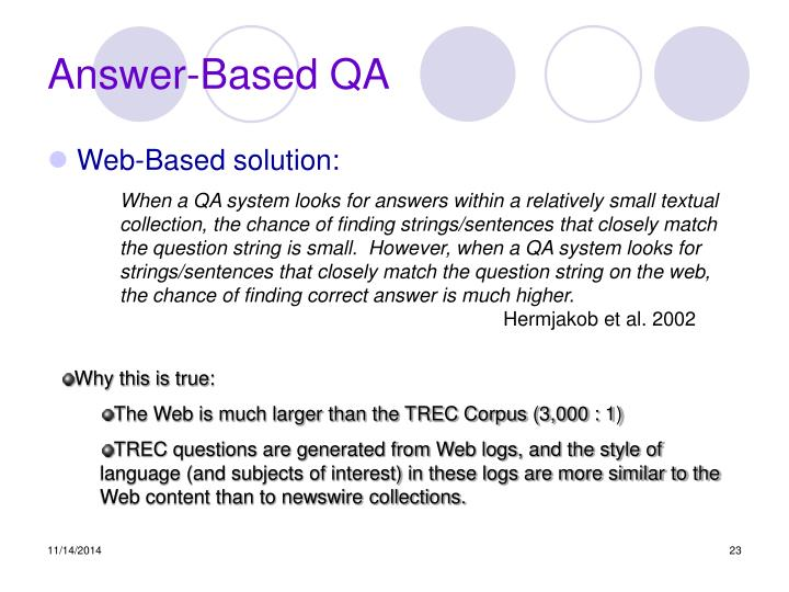 Answer-Based QA