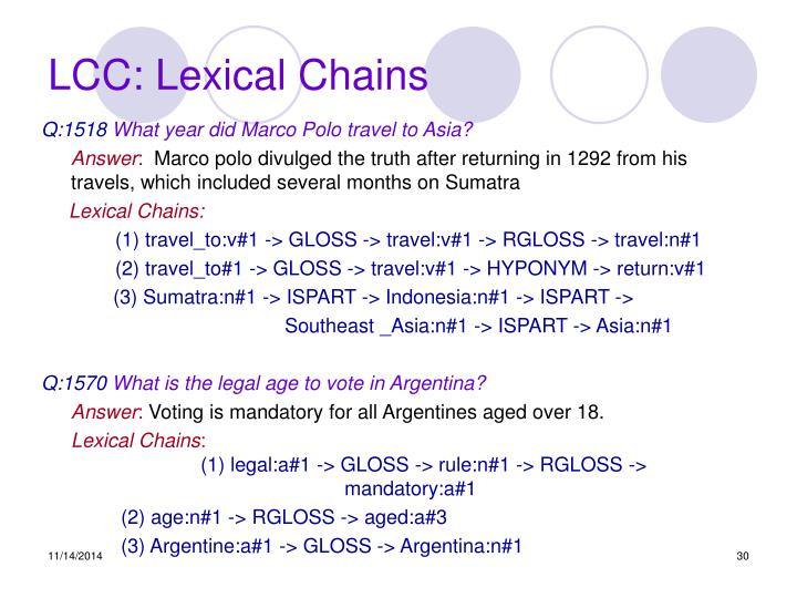 LCC: Lexical Chains