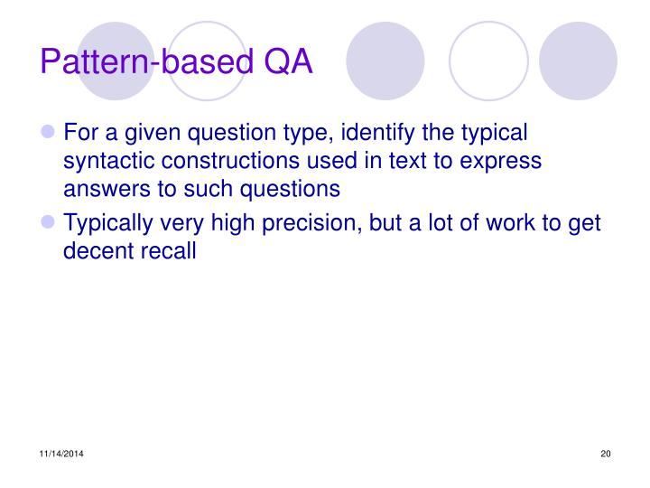 Pattern-based QA