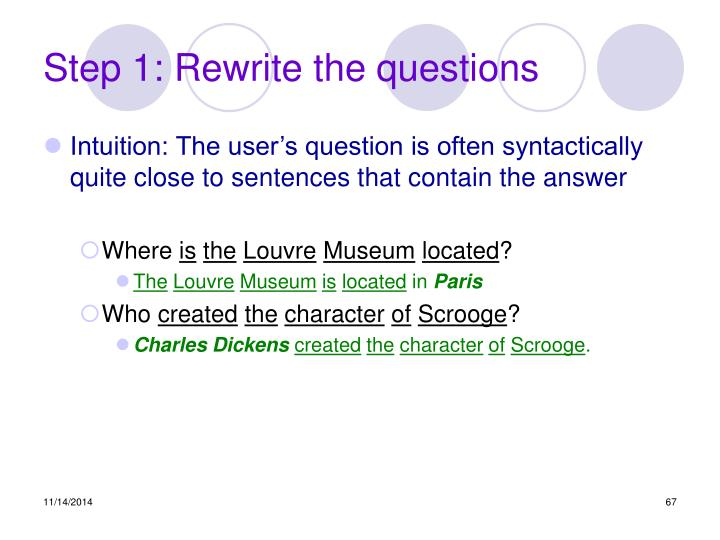 Step 1: Rewrite the questions