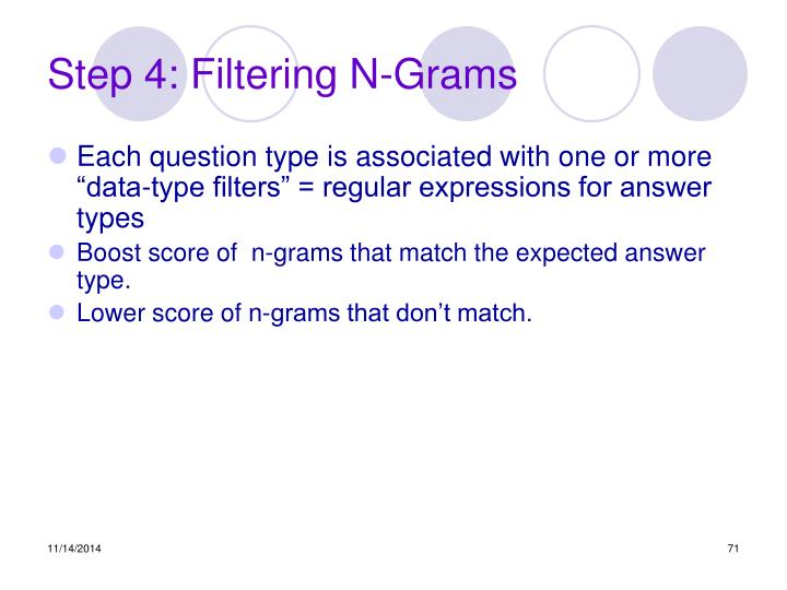 Step 4: Filtering N-Grams