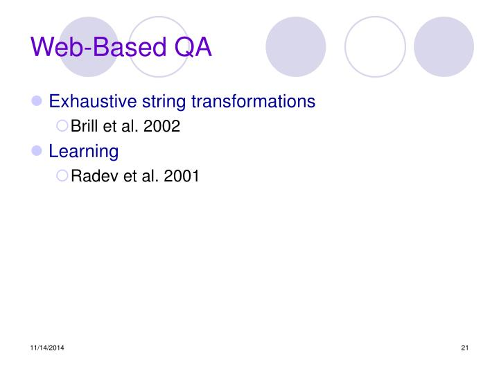 Web-Based QA