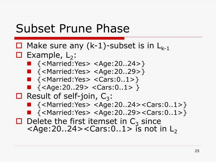 Subset Prune Phase