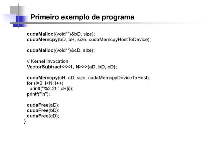 Primeiro exemplo de programa