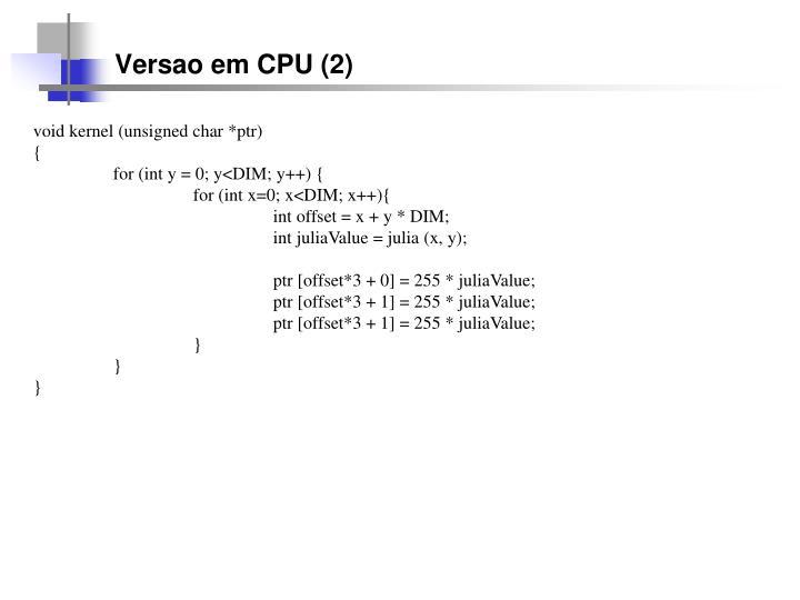 Versao em CPU (2)