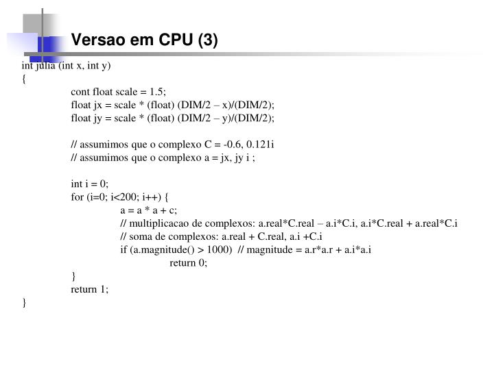 Versao em CPU (3)