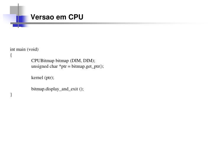 Versao em CPU
