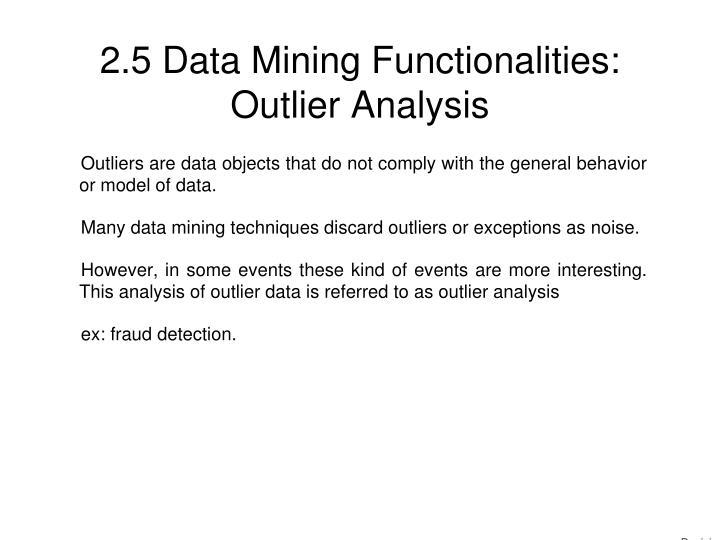 2.5 Data Mining Functionalities: