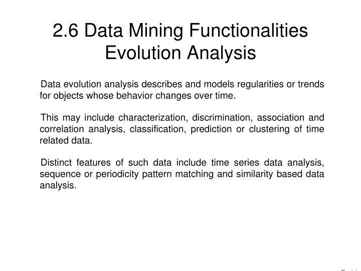 2.6 Data Mining Functionalities