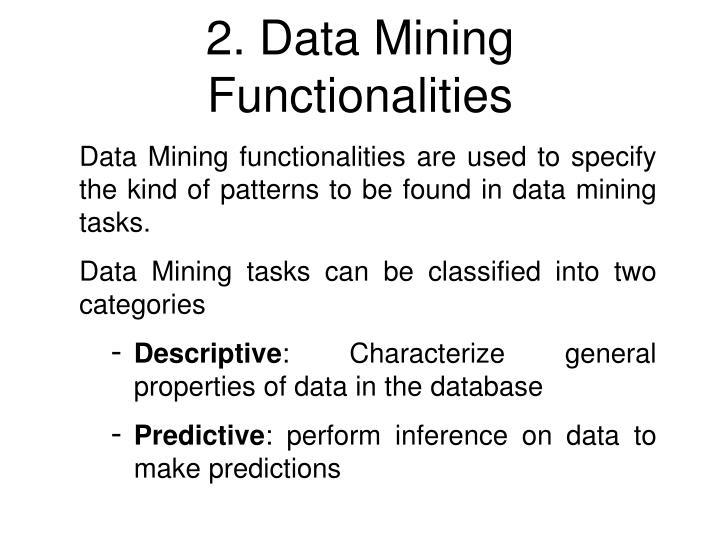 2. Data Mining Functionalities