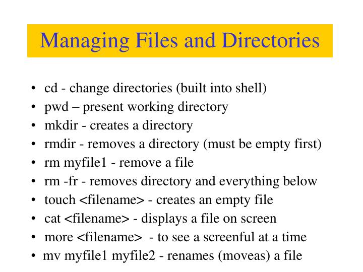 cd - change directories (built into shell)
