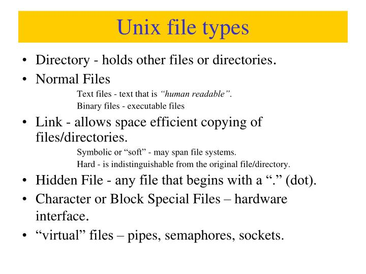 Unix file types