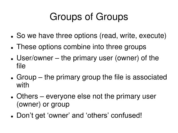 Groups of Groups