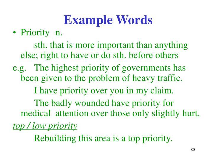 Example Words
