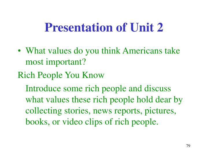 Presentation of Unit 2