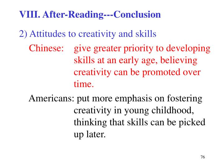 VIII. After-Reading---Conclusion