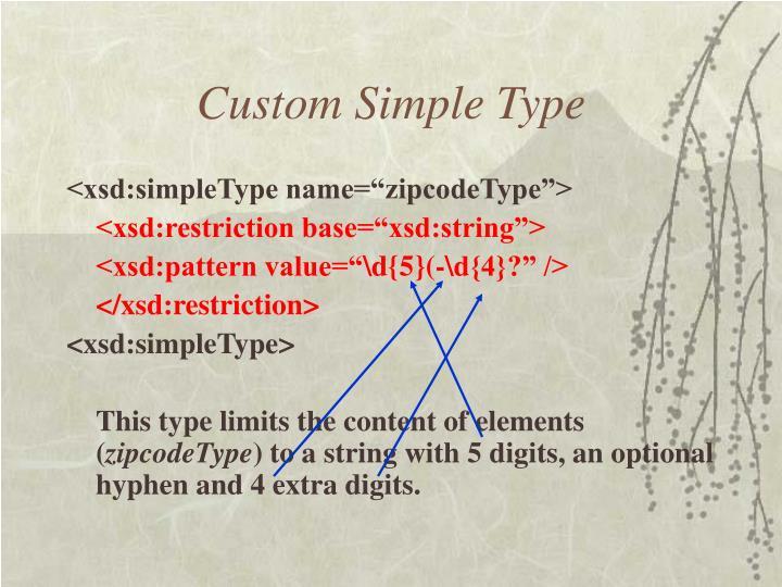 Custom Simple Type