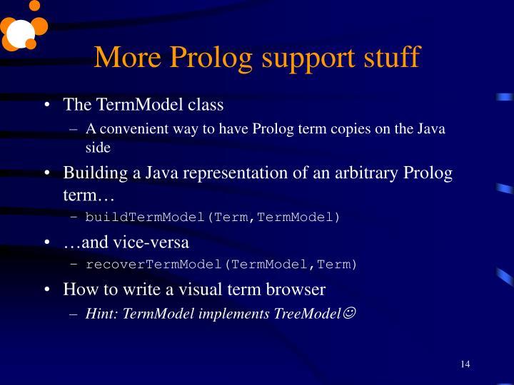 More Prolog support stuff