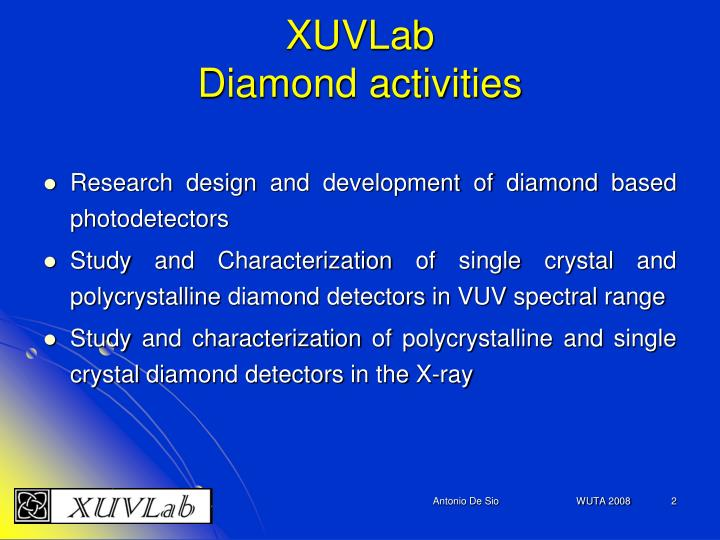 Xuvlab diamond activities
