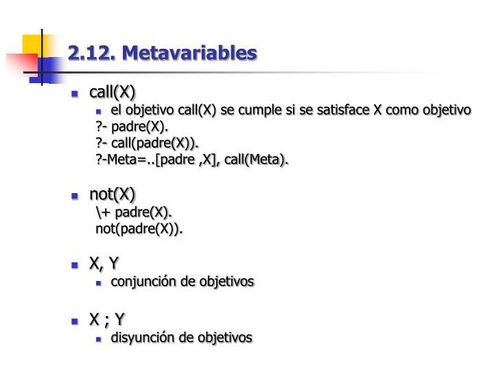 2.12. Metavariables