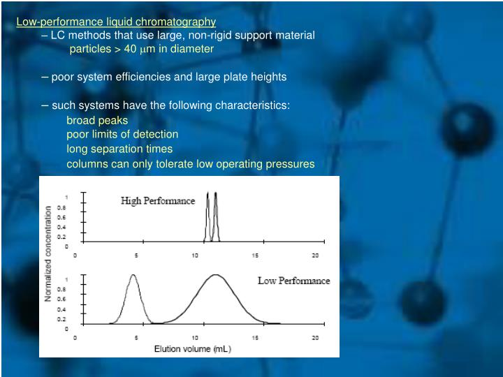 Low-performance liquid chromatography