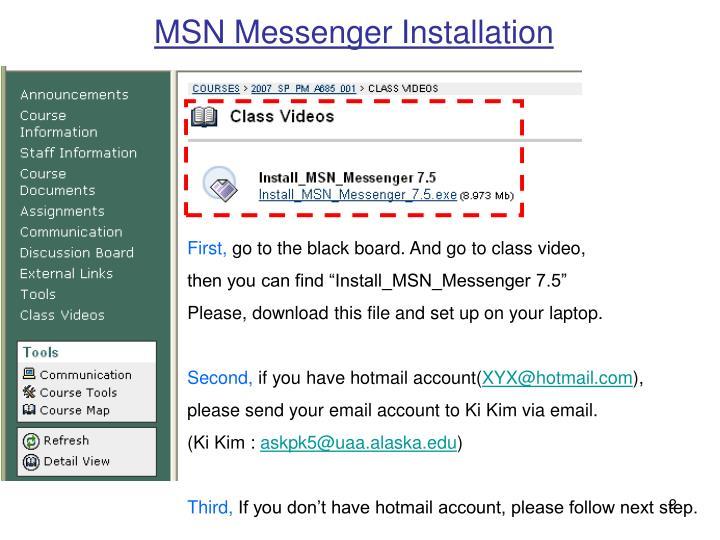 MSN Messenger Installation
