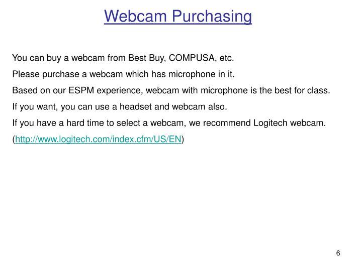 Webcam Purchasing