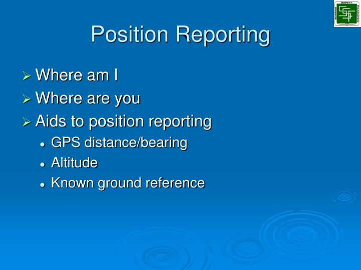 Position Reporting