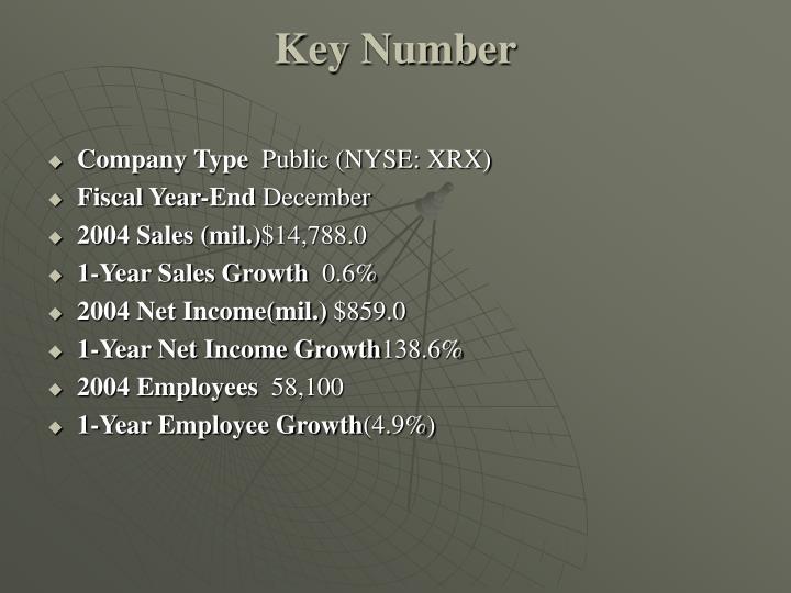 Key Number