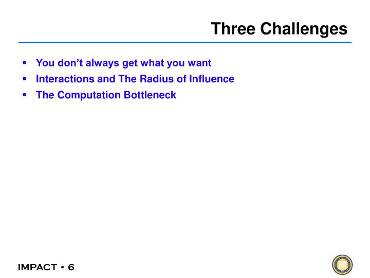 Three Challenges
