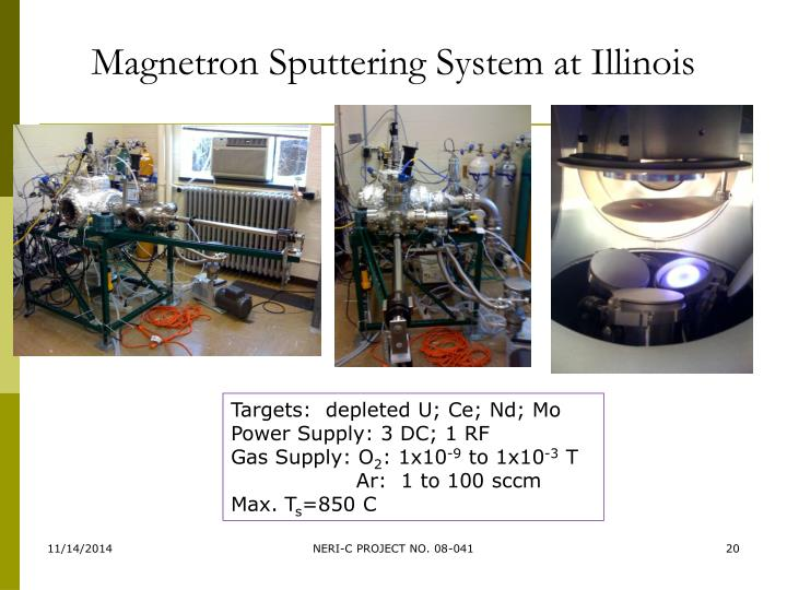 Magnetron Sputtering System at Illinois