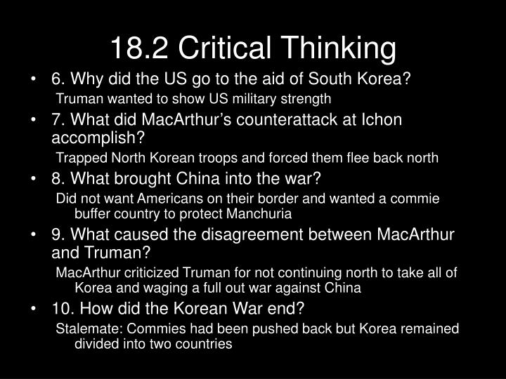 18.2 Critical Thinking