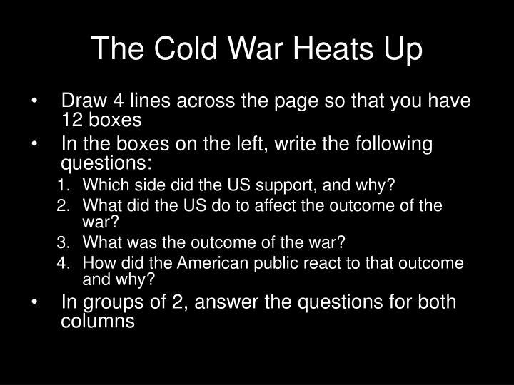 The Cold War Heats Up