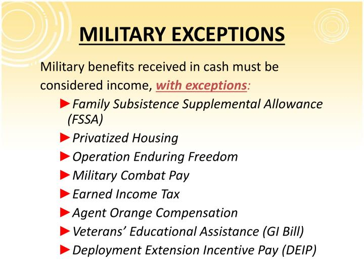 MILITARY EXCEPTIONS