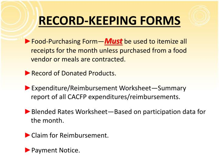 RECORD-KEEPING FORMS