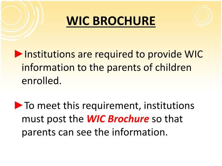 WIC BROCHURE