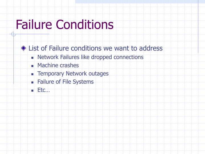 Failure Conditions