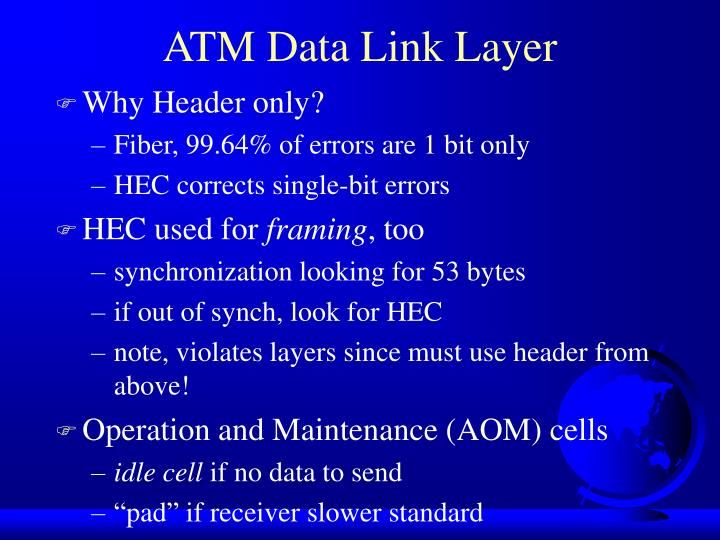 ATM Data Link Layer