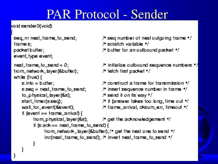 PAR Protocol - Sender