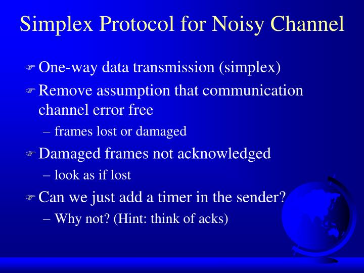 Simplex Protocol for Noisy Channel