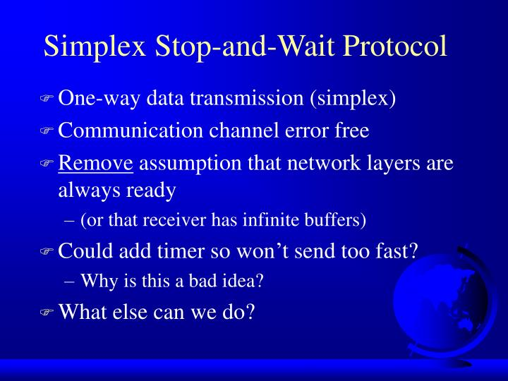 Simplex Stop-and-Wait Protocol