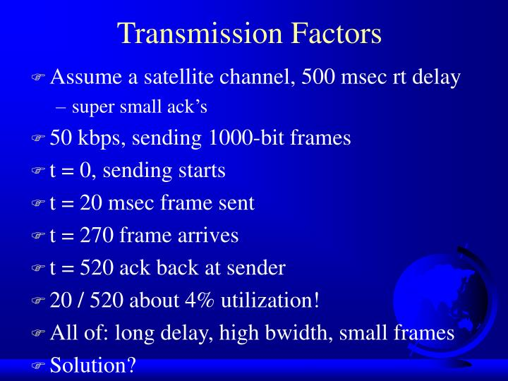 Transmission Factors