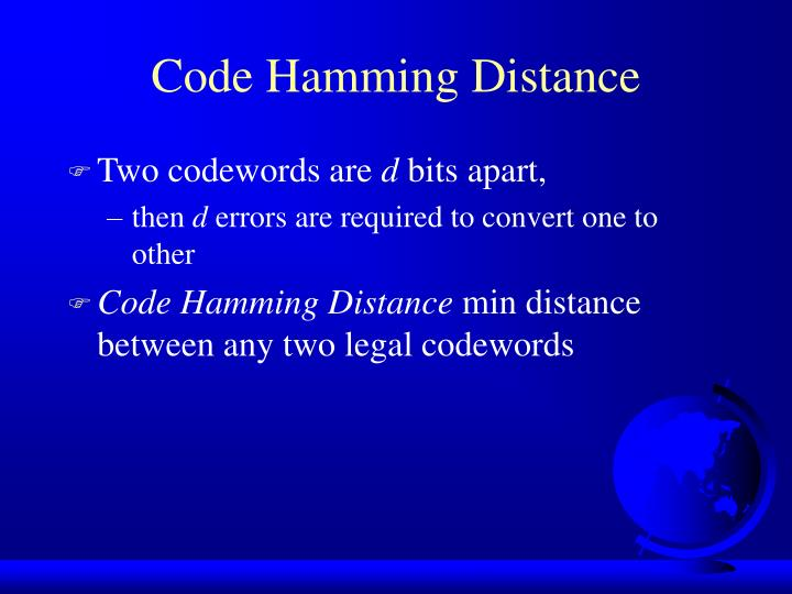 Code Hamming Distance