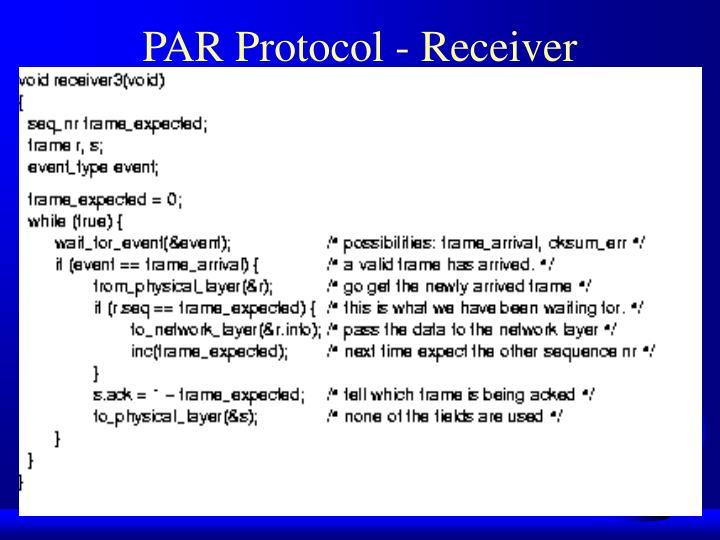 PAR Protocol - Receiver