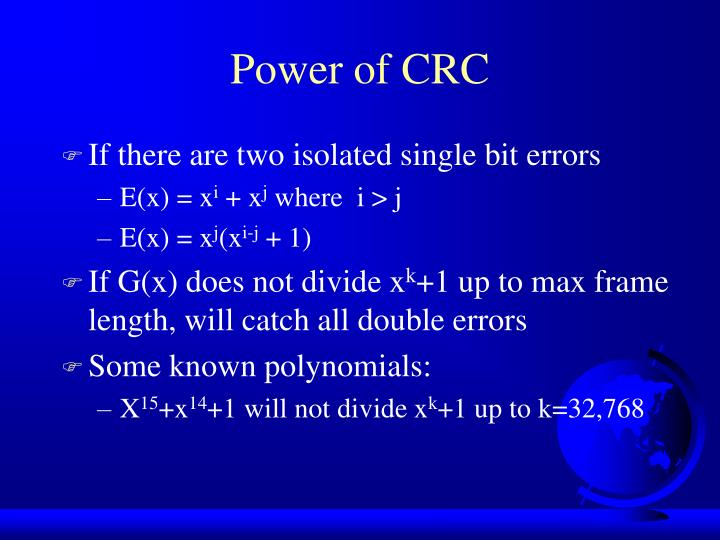 Power of CRC