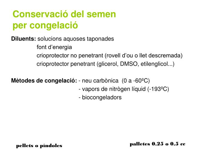 Conservació del semen